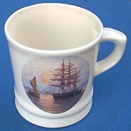 Colonel Conk 115S Sailing Ship Shaving Mug and Almond Soap