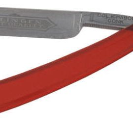 Colonel Con0k 504 Straight Razor Red Handle -Carbon