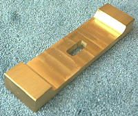 "Knife Making CP252 Brass Lugged Guard 1"" x 4"""