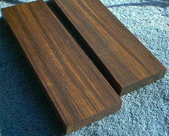 "Cocobolo JZ-EW108 One Set of Wood Scales  1-1/2"" x 5"""