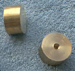 "Knife Making CP109 Brass Round Straight Pommel 1-1/8"" x 5/8"""