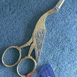 "Dovo Gold Stork Embroidery Scissors 6-1/2"" 202-603"