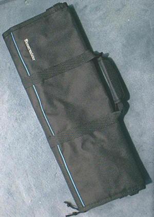 Messermeister 2066-12B Knife Roll Black, 12 pockets