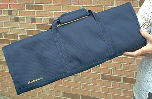 Messermeister 1066-12N Knife Roll Navy Blue, 12 pockets