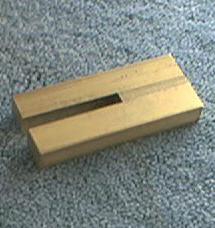 Knife Making CP390 Brass Slotted Guard