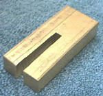 Knife Making CP380 Brass Slotted Guard