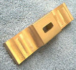 "Knife Making CP232 Brass Crowned Guard 1"" x 4"""