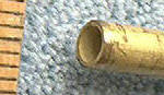 "Knife Making CP5012 Brass Tube 1/4""x 12"""