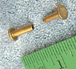 "Cutlery Rivet (Compression) RV125 Brass Large 5/16"" head"