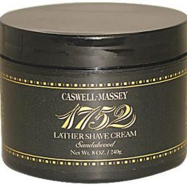 Caswell-Massey 17-22491 Sandalwood Shave Cream in a Jar 8 oz.