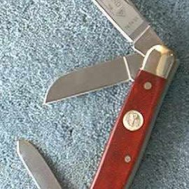 Boker 7474SS Red Bone Stockman Knife, stainless blades