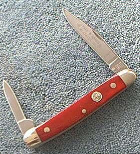 Boker 8288SS Red Bone Pen Knife, stainless blades