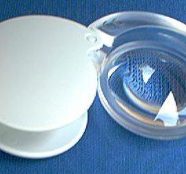 Eschenbach 1710-910 White Folding Pocket Magnifier 10X