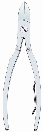 Dovo 158-455 Nail Nipper, Square Style, Stainless, 4-1/2""