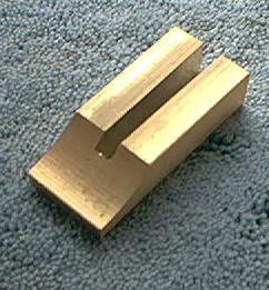 Knife Making CP362 Brass Slotted Guard with Finger Groove