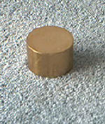 "Knife Making CP101 Brass Round Straight Pommel 1"" x 5/8"""