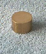 "Knife Making CP101 Brass Round Straight Pommel 1"" x 5/8"""