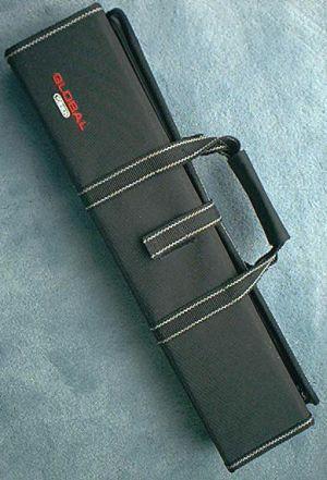 Global G-667/11 Knife Case, Black,  11 pockets