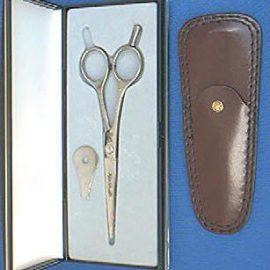"""Dovo 229-555 Left Hand KE Hair Shear SS 5-1/2"""" + finger rest"""