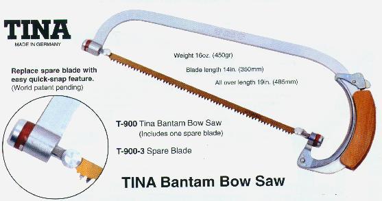 Tina F-T-900 Bantam Bow Saw