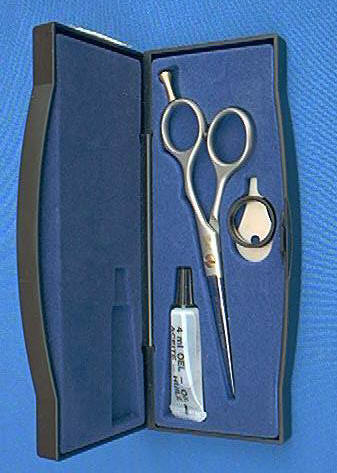 "Dovo 238-556 KE Hair Shear Satin SS 5-1/2"" + finger rest"