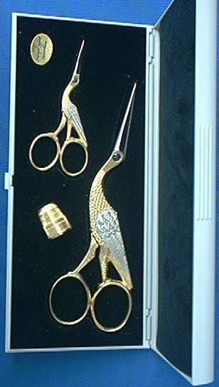 Wasa 179F-2 Gold Stork Scissors Set 2 Piece
