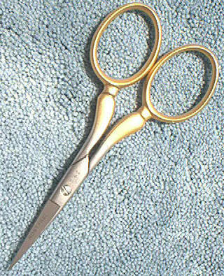Dovo 44-350326 Embroidery Scissors SS gold satin