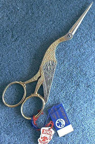 "Dovo Gold Stork Embroidery Scissors 6-1/2"" 202-603"